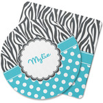 Dots & Zebra Rubber Backed Coaster (Personalized)