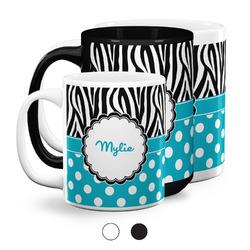 Dots & Zebra Coffee Mugs (Personalized)
