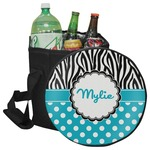 Dots & Zebra Collapsible Cooler & Seat (Personalized)