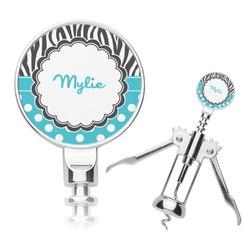 Dots & Zebra Corkscrew (Personalized)