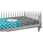 Dots & Zebra Crib Fitted Sheet (Personalized)