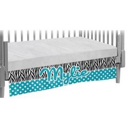 Dots & Zebra Crib Skirt (Personalized)