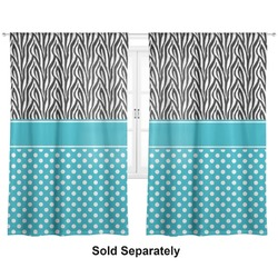 "Dots & Zebra Curtains - 20""x54"" Panels - Lined (2 Panels Per Set) (Personalized)"