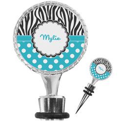 Dots & Zebra Wine Bottle Stopper (Personalized)