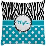 Dots & Zebra Decorative Pillow Case (Personalized)