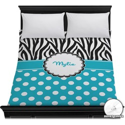 Dots & Zebra Duvet Cover (Personalized)