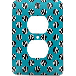 Dots & Zebra Electric Outlet Plate (Personalized)