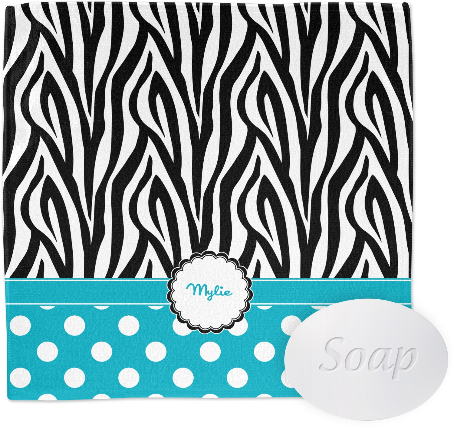 Zebra print bathroom set
