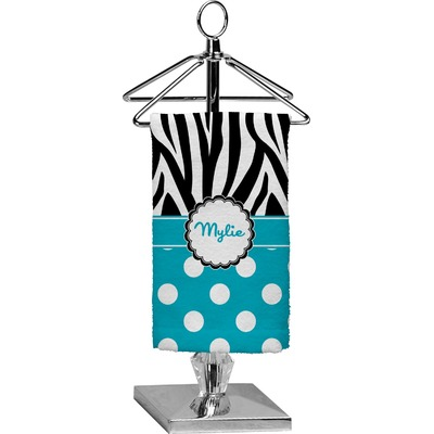 Dots & Zebra Finger Tip Towel - Full Print (Personalized)