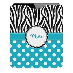 Dots & Zebra Genuine Leather iPad Sleeve (Personalized)