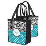 Dots & Zebra Grocery Bag (Personalized)