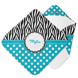 Dots & Zebra Hooded Baby Towel (Personalized)