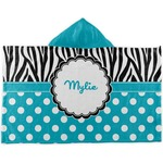 Dots & Zebra Kids Hooded Towel (Personalized)