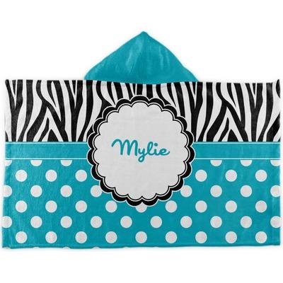 Dots & Zebra Kids Hooded Towel (Personalized)