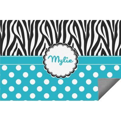 Dots & Zebra Indoor / Outdoor Rug (Personalized)