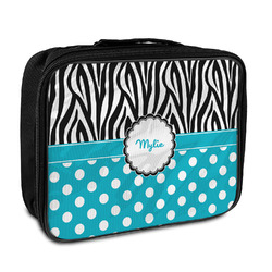 Dots & Zebra Insulated Lunch Bag (Personalized)