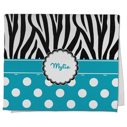 Dots & Zebra Kitchen Towel - Full Print (Personalized)
