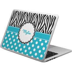 Dots & Zebra Laptop Skin - Custom Sized w/ Name or Text