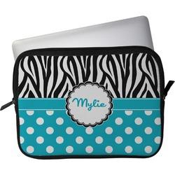 "Dots & Zebra Laptop Sleeve / Case - 13"" (Personalized)"