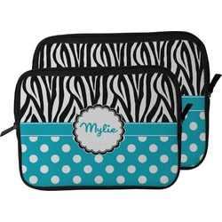 Dots & Zebra Laptop Sleeve / Case (Personalized)