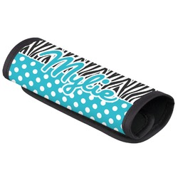 Dots & Zebra Luggage Handle Cover (Personalized)