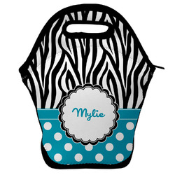 Dots & Zebra Lunch Bag (Personalized)