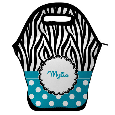 Dots & Zebra Lunch Bag w/ Name or Text