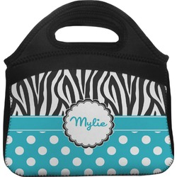 Dots & Zebra Lunch Tote (Personalized)