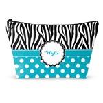 Dots & Zebra Makeup Bags (Personalized)