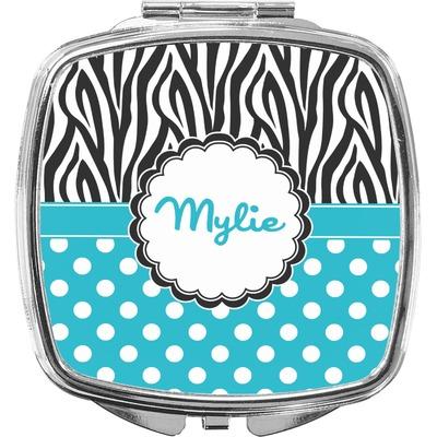 Dots & Zebra Compact Makeup Mirror (Personalized)