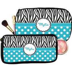 Dots & Zebra Makeup / Cosmetic Bag (Personalized)