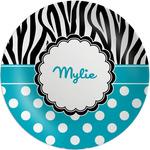 Dots & Zebra Melamine Plate - 8