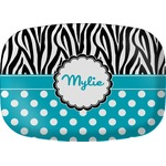 Dots & Zebra Melamine Platter (Personalized)