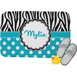 Dots & Zebra Memory Foam Bath Mat (Personalized)