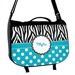 Dots & Zebra Messenger Bag (Personalized)