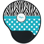 Dots & Zebra Mouse Pad with Wrist Support