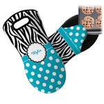 Dots & Zebra Neoprene Oven Mitt (Personalized)