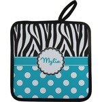 Dots & Zebra Pot Holder w/ Name or Text