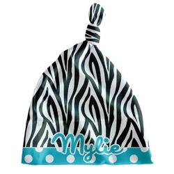 Dots & Zebra Newborn Hat - Knotted (Personalized)