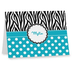 Dots & Zebra Notecards (Personalized)