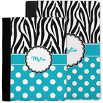 Dots & Zebra Notebook Padfolio w/ Name or Text