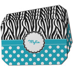 Dots & Zebra Dining Table Mat - Octagon w/ Name or Text