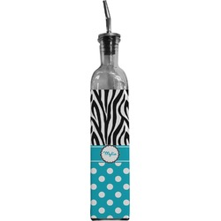Dots & Zebra Oil Dispenser Bottle (Personalized)