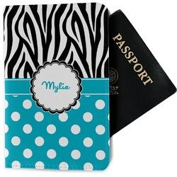 Dots & Zebra Passport Holder - Fabric (Personalized)