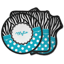 Dots & Zebra Iron on Patches (Personalized)