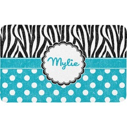Dots & Zebra Bath Mat (Personalized)