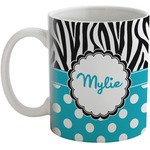 Dots & Zebra Coffee Mug (Personalized)
