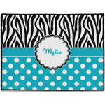 Dots & Zebra Door Mat (Personalized)