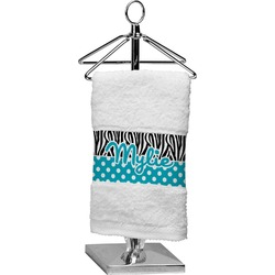 Dots & Zebra Finger Tip Towel (Personalized)
