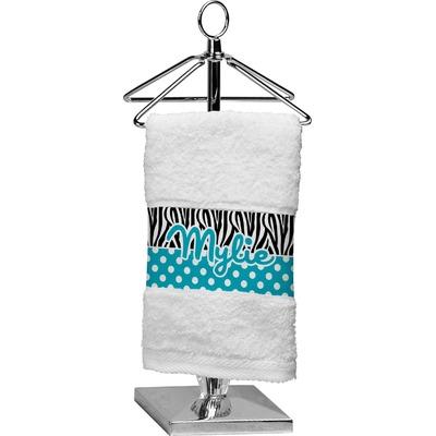 Dots & Zebra Cotton Finger Tip Towel (Personalized)